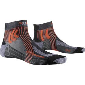 X-Socks Marathon Retina Chaussettes Homme, stone grey melange/x-orange